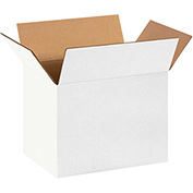 "White Corrugated Boxes 14"" x 10"" x 10"" 200lb. Test/ECT-32 25 Pack"