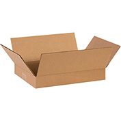 "Flat Corrugated Boxes 14"" x 10"" x 2"" 200lb. Test/ECT-32 25 Pack"