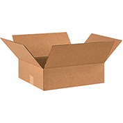 "Flat Corrugated Boxes 14"" x 12"" x 3"" 200lb. Test/ECT-32 25 Pack"