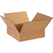 "Flat Corrugated Boxes 14"" x 14"" x 3"" - 25 Pack"