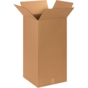 "Tall Cardboard Corrugated Box 14"" x 14"" x 30"" 200lb. Test/ECT-32 - 20 Pack"