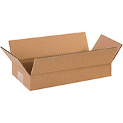 "Flat Corrugated Boxes 14"" x 6"" x 2"" 200lb. Test/ECT-32 25 Pack"