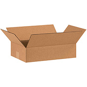 "Flat Corrugated Boxes 15"" x 10"" x 4"" - 25 Pack"