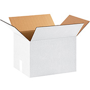 "White Cardboard Corrugated Box 15"" x 12"" x 10"" 200lb. Test/ECT-32 - 25 Pack"