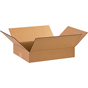 "Flat Corrugated Boxes 15"" x 12"" x 3"", 200 lb. Test/ECT-32 Kraft - 25 Pack"