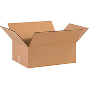 "Flat Corrugated Boxes 15"" x 12"" x 5"", 200 lb. Test/ECT-32 Kraft - 25 Pack"