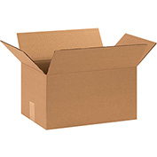 "Cardboard Single Wall Corrugated Box 15"" x 9"" x 8"" 200Lb. Test/ECT-32  Kraft - 25 Pack"