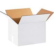 "Corrugated Boxes 16"" x 12"" x 12"", 200 lb. Test/ECT32 White - 25 Pack"