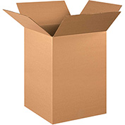 "Corrugated Boxes 16"" x 16"" x 22"", 200 lb. Test/ECT-32 Kraft - 20 Pack"