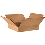 "Flat Corrugated Boxes 16"" x 16"" x 3"" 200lb. Test/ECT-32 25 Pack"