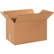 "Cardboard Corrugated Boxes 16 x 9 x 9"", 200 lb. Test/ECT-32 Kraft - 25 Pack"