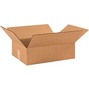 "Flat Corrugated Boxes 17-1/2"" x 12"" x 3"" 200lb. Test/ECT-32 25 Pack"