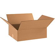 "Flat Corrugated Boxes 17"" x 14"" x 5"" - 25 Pack"