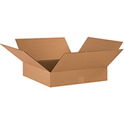 "Flat Corrugated Boxes 17"" x 17"" x 4"" - 25 Pack"