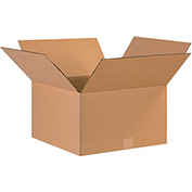 "Cardboard Single Wall Corrugated Box 17"" x 17"" x 9"" 200Lb. Test/ECT-32  Kraft - 25 Pack"