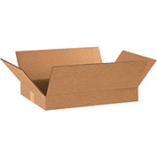 "Flat Corrugated Boxes 18"" x 12"" x 2"" 200lb. Test/ECT-32 25 Pack"