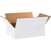 "White Cardboard Corrugated Box 18"" x 12"" x 6"" 200lb. Test/ECT-32 - 25 Pack"