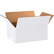 "White Corrugated Boxes 18"" x 12"" x 8"" 200lb. Test/ECT-32 25 Pack"