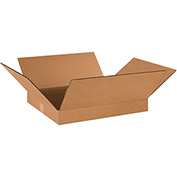 "Flat Corrugated Boxes 18"" x 16"" x 2"" 200lb. Test/ECT-32 25 Pack"