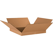 "Flat Corrugated Boxes 18"" x 18"" x 2"", 200 lb. Test/ECT-32 Kraft - 25 Pack"