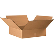 "Flat Corrugated Boxes 18"" x 18"" x 5"", 200 lb. Test/ECT-32 Kraft - 25 Pack"