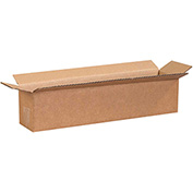 "Long Cardboard Corrugated Box 18"" x 4"" x 4"" 200lb. Test/ECT-32 - 25 Pack"