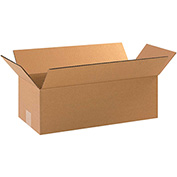 "Cardboard Single Wall Corrugated Box 18"" x 8"" x 4"" 200Lb. Test/ECT-32  Kraft - 25 Pack"