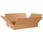 "Flat Corrugated Boxes 19"" x 12"" x 3"" 200lb. Test/ECT-32 25 Pack"