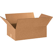 "Flat Corrugated Boxes 19"" x 13"" x 6"", 200 lb. Test/ECT-32 Kraft - 25 Pack"