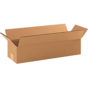 "Long Corrugated Boxes 19"" x 6"" x 4"" - 25 Pack"