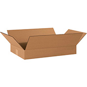 "Flat Corrugated Boxes 20"" x 12"" x 3"" 200lb. Test/ECT-32 25 Pack"