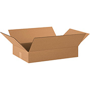 "Flat Corrugated Boxes 20"" x 14"" x 3"" 200lb. Test/ECT-32 25 Pack"