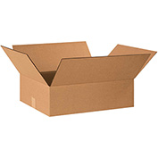 "Flat Corrugated Boxes 20"" x 15"" x 6"" - 25 Pack"