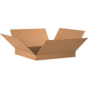 "Flat Corrugated Boxes 20"" x 20"" x 2"" 200lb. Test/ECT-32 20 Pack"