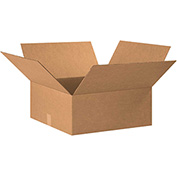 "Cardboard Single Wall Corrugated Box 20"" x 20"" x 7"" 200Lb. Test/ECT-32 Kraft - 15 Pack"