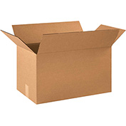 "Cardboard Single Wall Corrugated Box 21"" x 13"" x 13"" 200Lb. Test/ECT-32 Kraft - 20 Pack"