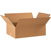 "Cardboard Corrugated Box 22"" x 14"" x 8"" 200lb. Test/ECT-32 - 20 Pack"
