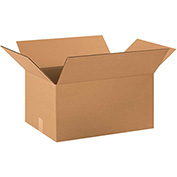"Cardboard Single Wall Corrugated Box 22"" x 16"" x 12"" 200Lb. Test/ECT-32 Kraft - 20 Pack"