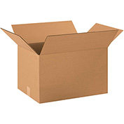 "Cardboard Single Wall Corrugated Box 22"" x 16"" x 14"" 200Lb. Test/ECT-32 Kraft - 20 Pack"