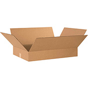 "Flat Corrugated Boxes 22"" x 16"" x 4"", 200 lb. Test/ECT-32 Kraft - 25 Pack"
