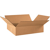 "Flat Corrugated Boxes 22"" x 16"" x 6"", 200 lb. Test/ECT-32 Kraft - 25 Pack"