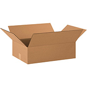 "Cardboard Single Wall Corrugated Box 22"" x 16"" x 8"" 200Lb. Test/ECT-32 Kraft - 20 Pack"