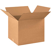 "Corrugated Boxes 22"" x 18"" x 18"", 200 lb. Test/ECT-32 Kraft - 15 Pack"