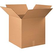 "Corrugated Boxes 23"" x 23"" x 23"", 200 lb. Test/ECT-32 Kraft - 10 Pack"