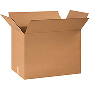"Cardboard Single Wall Corrugated Box 24"" x 12"" x 16"" 200Lb. Test/ECT-32 Kraft - 25 Pack"