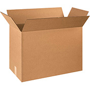"Cardboard Single Wall Corrugated Box 24"" x 12"" x 18"" 200Lb. Test/ECT-32 Kraft - 20 Pack"