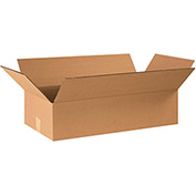 "Flat Corrugated Boxes 24"" x 12"" x 6"" 200lb. Test/ECT-32 20 Pack"