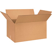 "Cardboard Corrugated Boxes 24"" x 15"" x 12"" 200lb. Test/ECT-32 - 20 Pack"