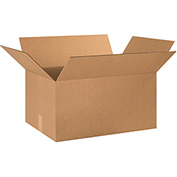 "Cardboard Single Wall Corrugated Box 24"" x 16"" x 13"" 200Lb. Test/ECT-32 Kraft - 15 Pack"