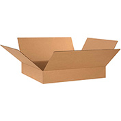 "Flat Corrugated Boxes 24"" x 20"" x 4"" - 20 Pack"